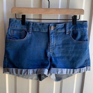Wax Jean Denim Stretch Shorts